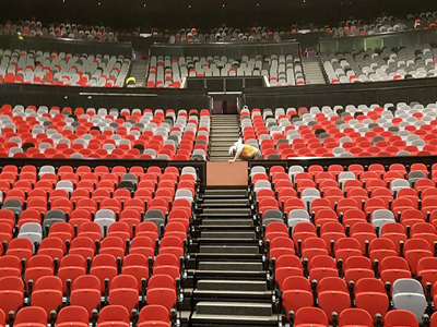 ICC Sydney Darling Harbour seats installation