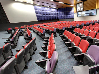 Auditorium seating at La Trobe University Melbourne