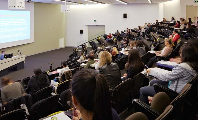 University auditorium fixed raked seating