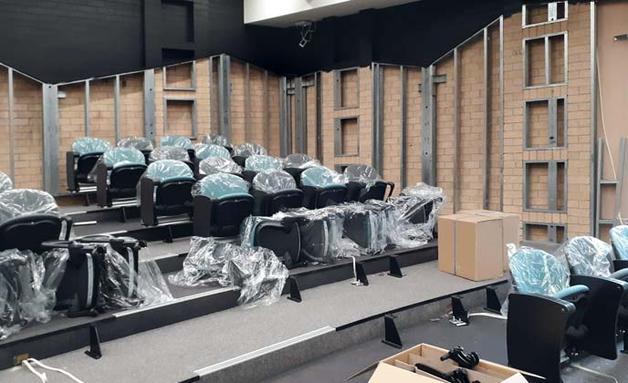 School auditorium seating installtion