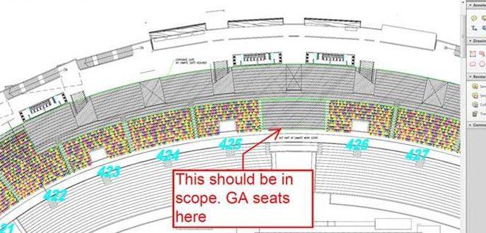 Bukit Jalil Stadium multiple bays & level plan