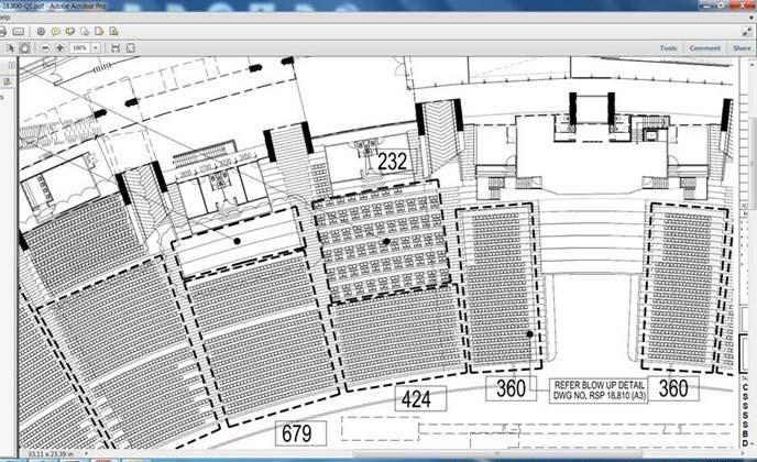 Stadium seating layout understanding