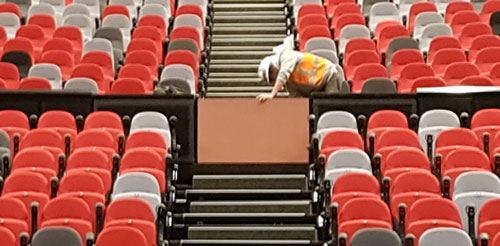 ICC Sydney seating project management and installation