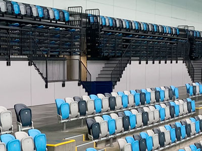 Melbourne Sports Centres aquatic facilities retractable seating