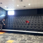Springside West Secondary auditorium retraceable seating installation project