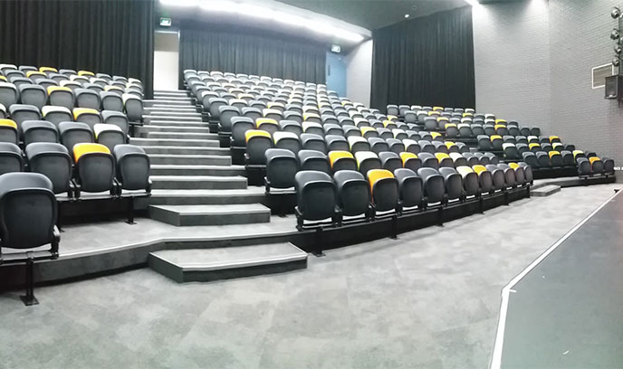 An extra wheelchair position was allowed for in the drama auditorium
